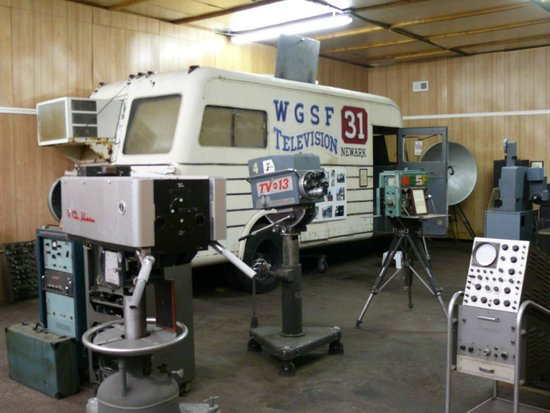 Other items at the museum include television cameras and this 1948 RCA mobile broadcasting van. Image obtained from TripAdvisor.