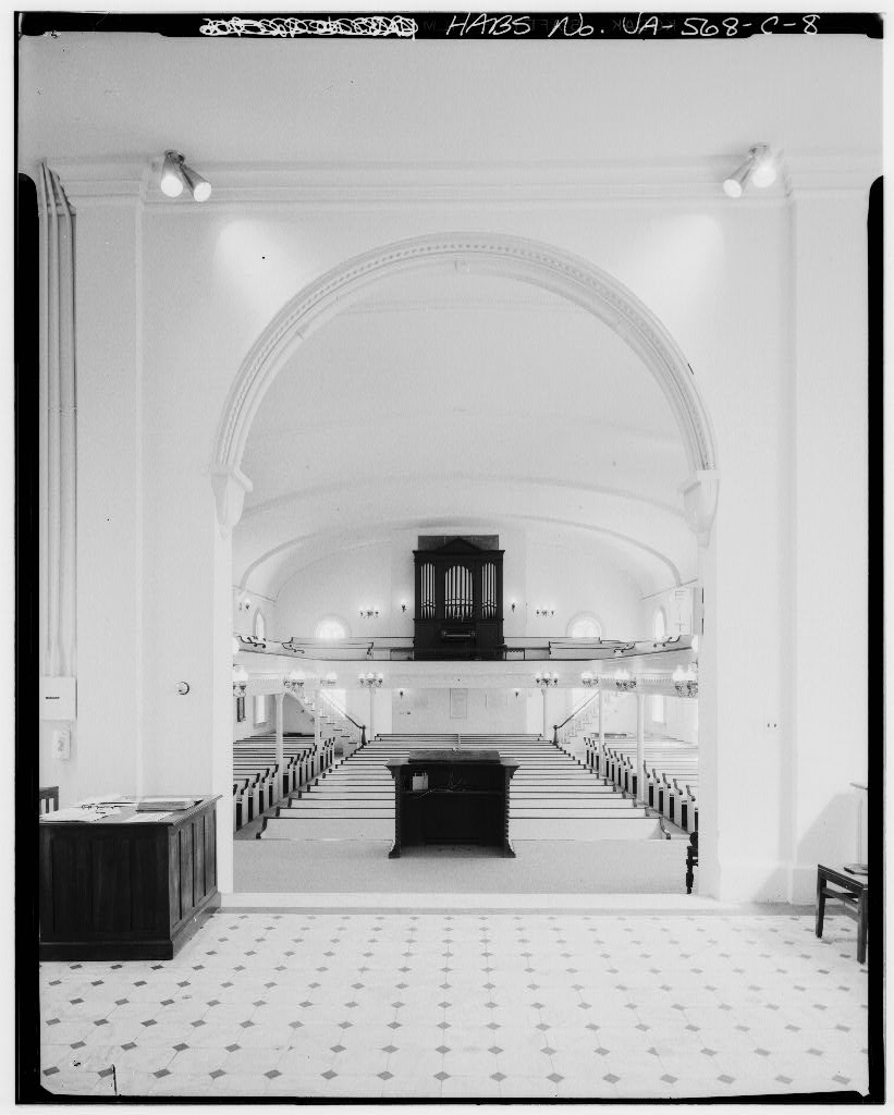 Looking into the auditorium (northwest) from the statue , Jul 1968