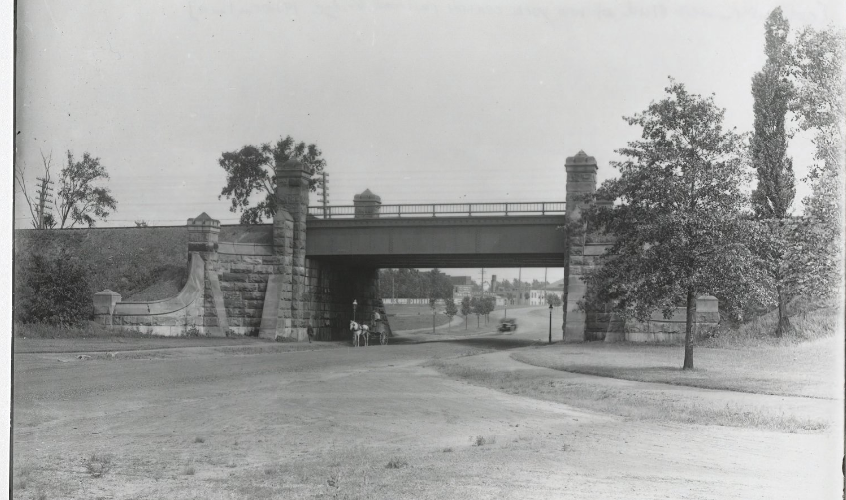 West Boulevard at New York Central Railroad Bridge 1920.