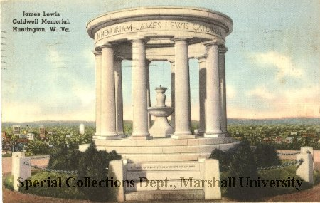 Postcard of the James Lewis Caldwell Memorial, circa 1940