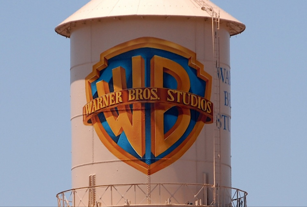 The famous Warner Brothers water tower