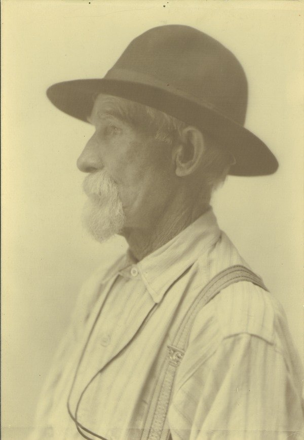 Thomas Canavan, ca. 1906. Waugh, F. A. (Frank Albert), 1869-1943 (photographer). Thomas Canavan was placed in charge of the Durfee Plant Houses by President William S. Clark. Subsequently he had worked as the college janitor.