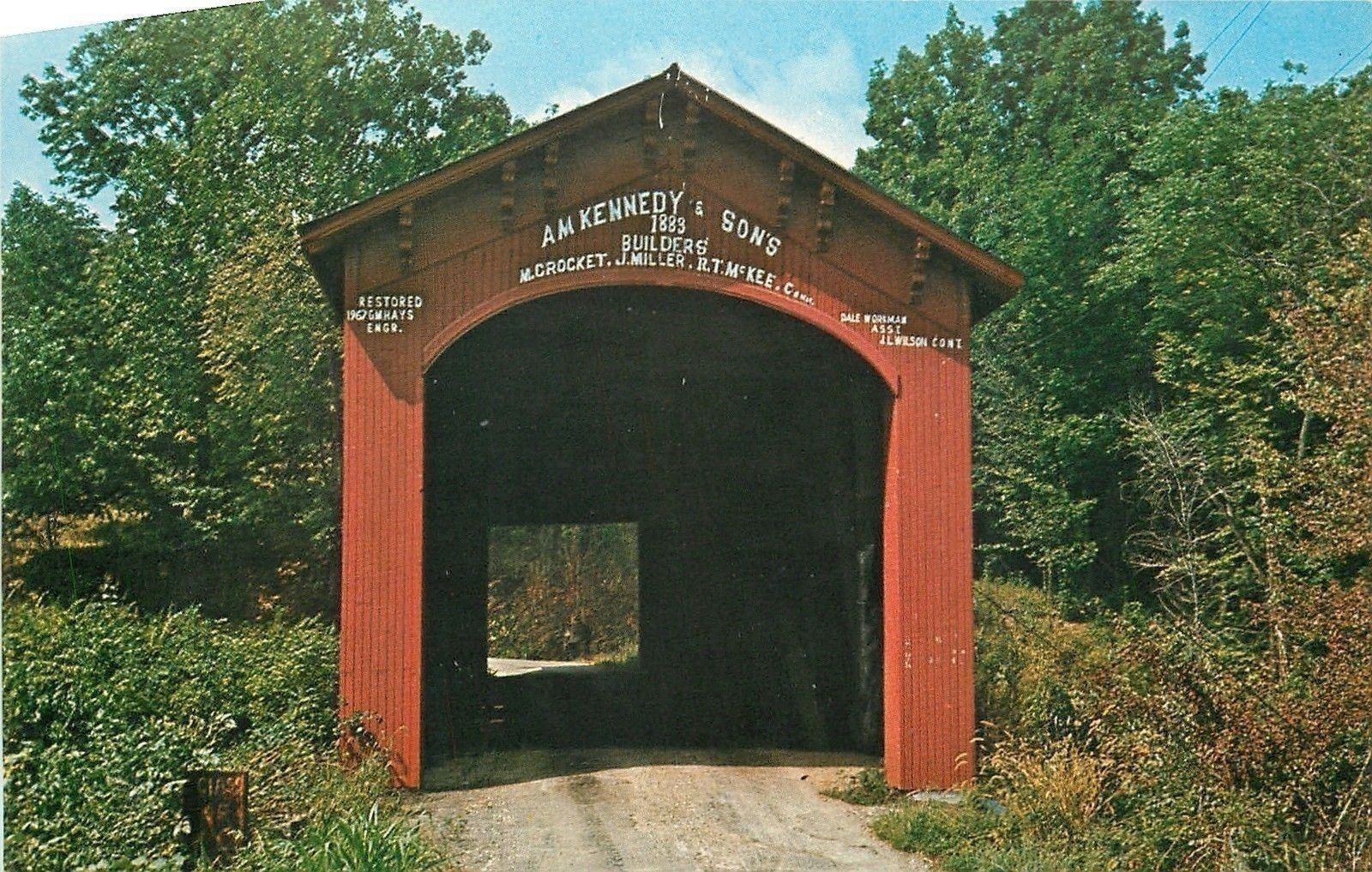 covered bridge before renovation in 1998