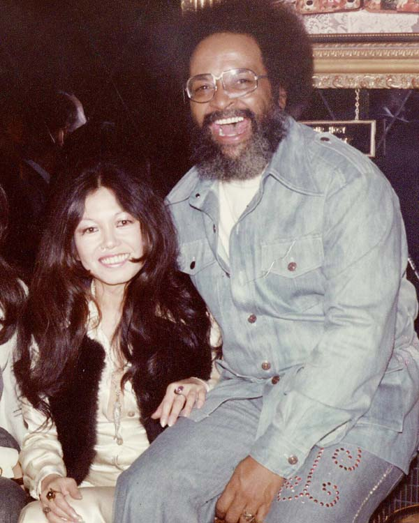 Cecil Williams and his wife Janice Mirikitani in the early 1970's