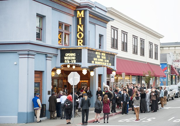 The Minor Theatre on the night of its grand reopening in 2016. Photo by Jennifer Fumiko Cahill and Mark McKenna.