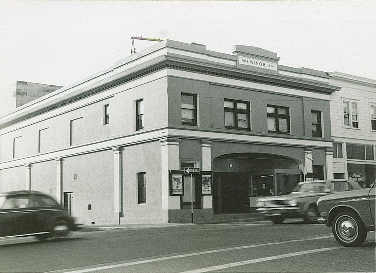 The Minor Theatre before its marquee. From the James Lundberg collection.