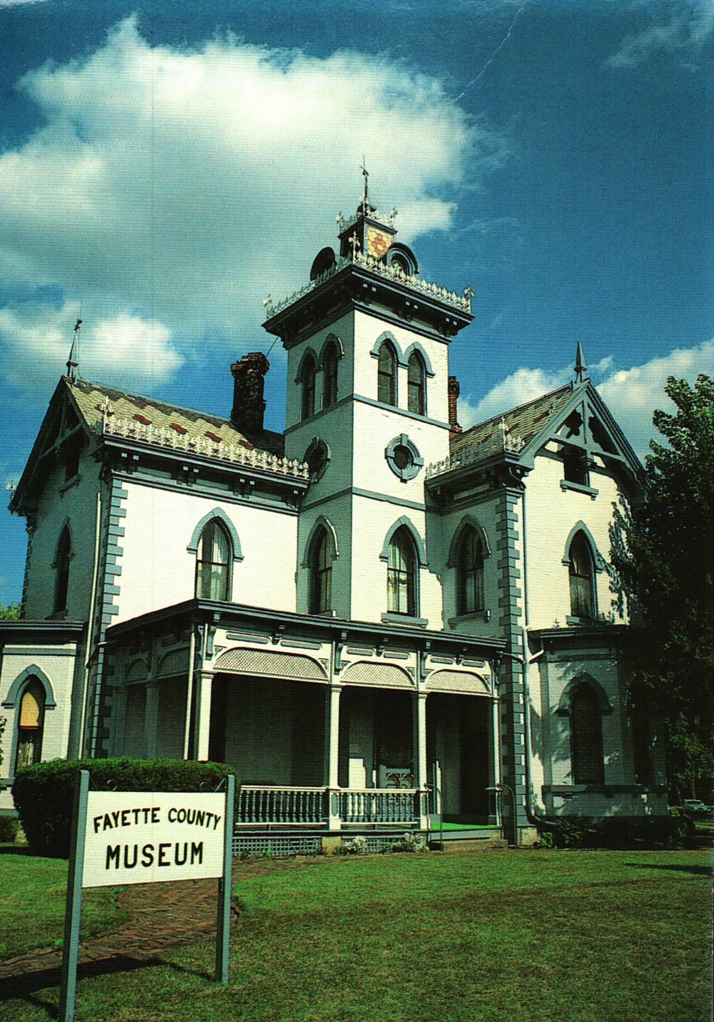 The Fayette County Historical Society Museum opened in 1965 in the historic Morris Sharp House, built in 1875. Image courtesy of the Fayette County Historical Society.