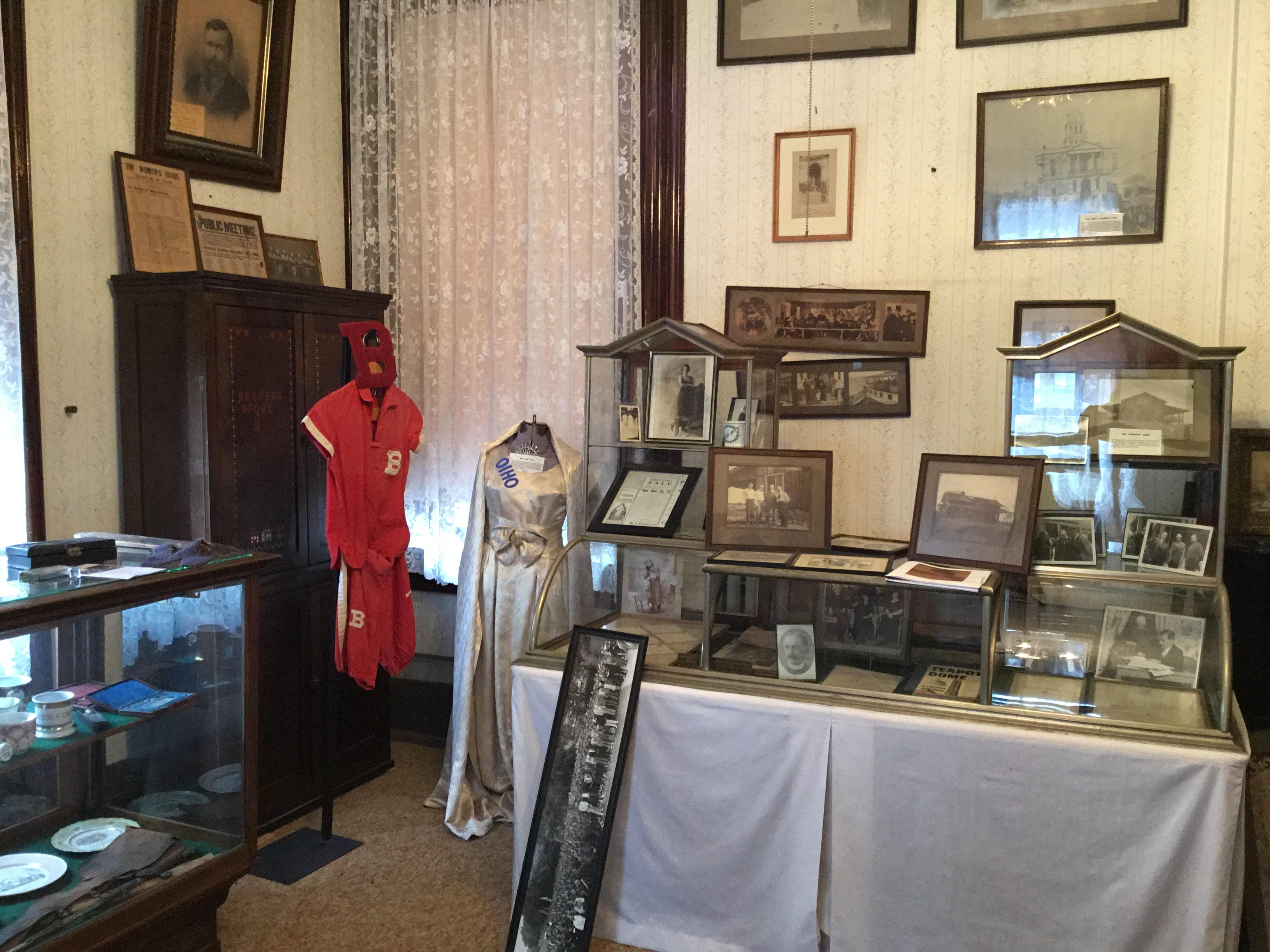 The museum contains thousands of items pertinent to the history of Fayette County. Image courtesy of the Fayette County Historical Society.