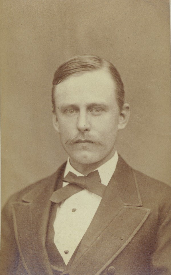 Henry Hague, class of 1875. Hague was one of the founding members of Phi Sigma Kappa.