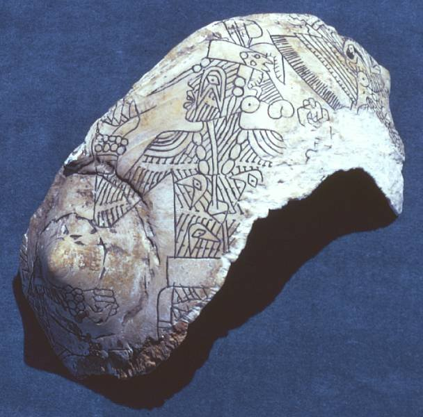 Engraved shell from Spiro Mounds site (image from Texas Beyond History)