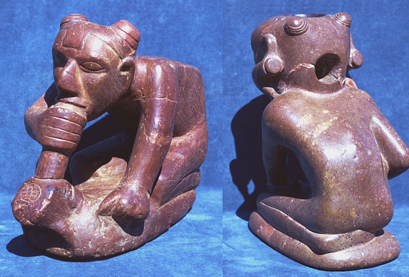 Effigy pipe from Spiro Mounds site (image from Texas Beyond History)