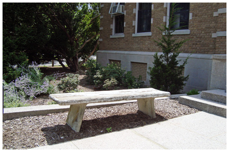 "Memorial Hall ""Class of 1921""benches. Two on the east side. One at each entrance."