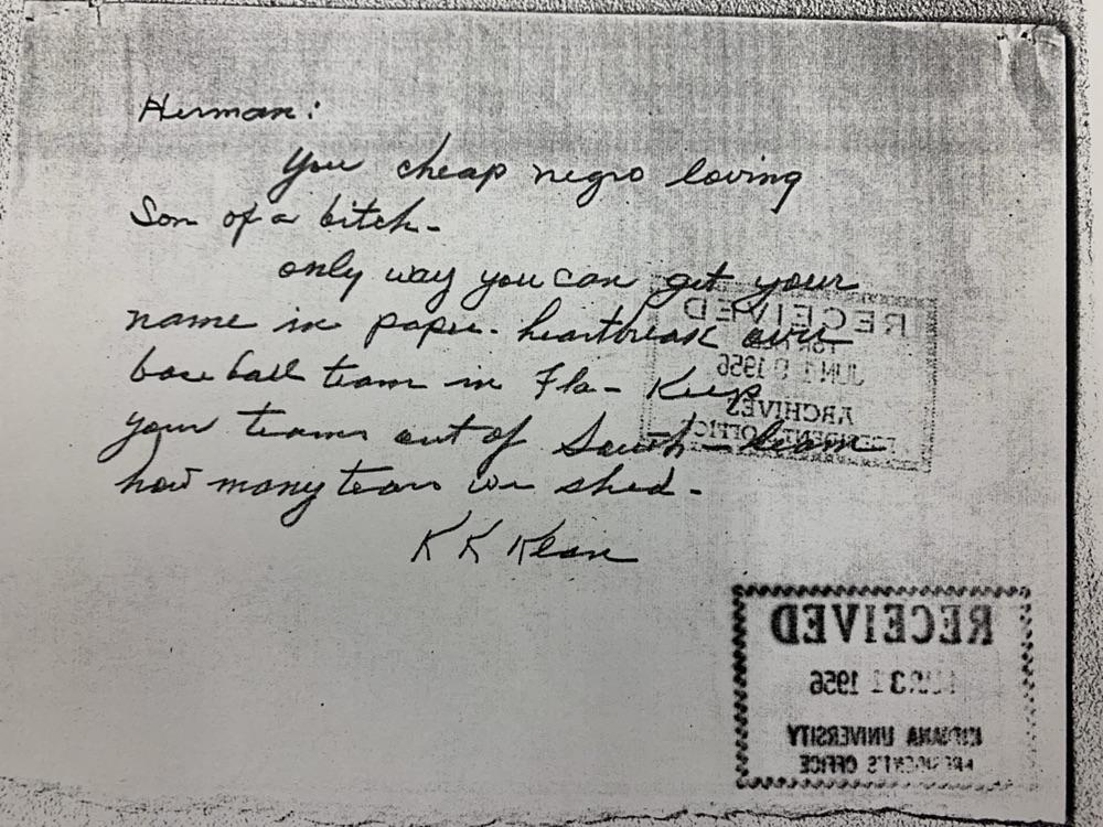 Letter from KKK to Herman B. Wells