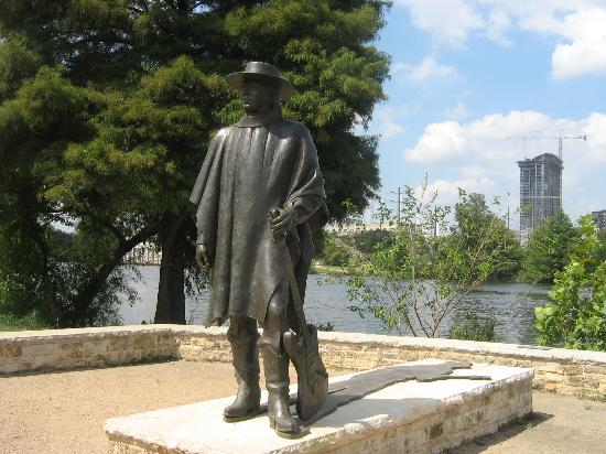 The Stevie Ray Vaughan statue