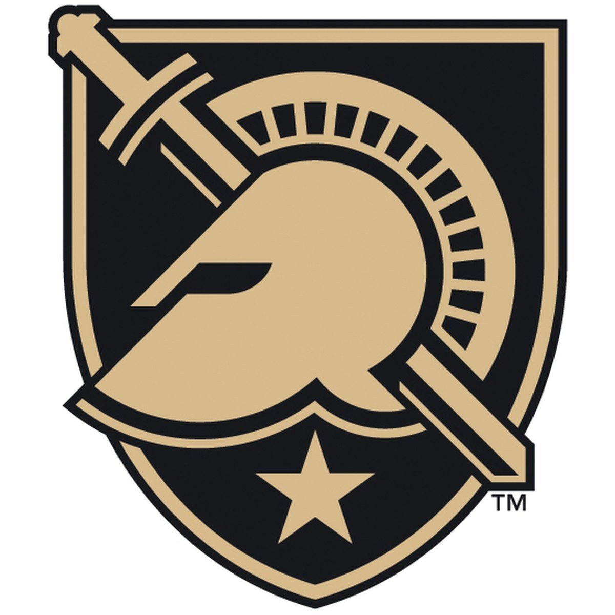 The logo for the West Point Academy athletics teams. They are called the West Point Black Knights.