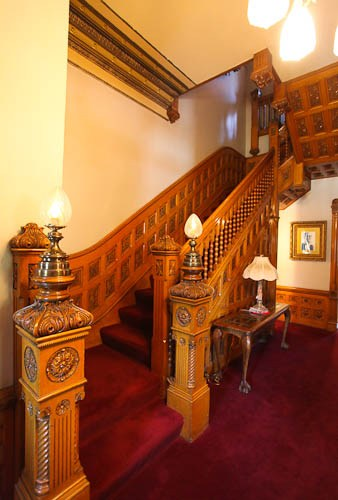 Staircase inside the mansion