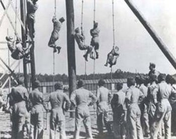 One of the obstacle courses at Camp Toccoa that the men had to endure to become the first ever paratrooper.