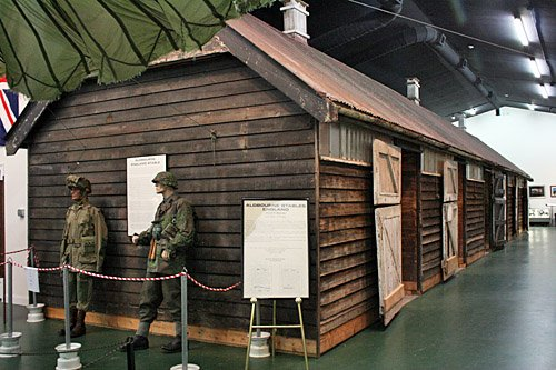 The stable that housed members of the Parachute Infantry Regiment.