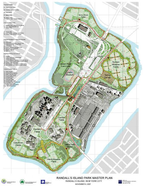 Map of Randall's Island Park