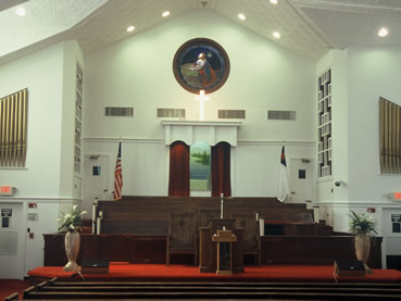 Interior of Ebenezer Baptist Church
