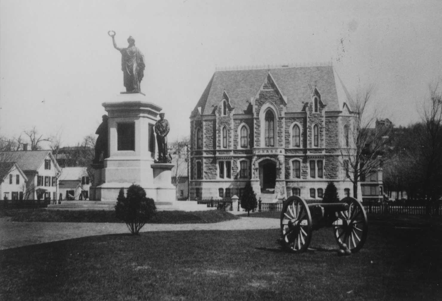 Milmore Civil War Monument, in front of County Courthouse, also 1870's