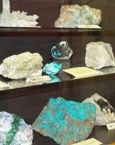 Some of the Minerals on display from the local area.