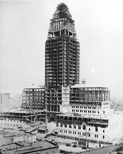 Los Angeles City Hall Under Construction, ca. 1927