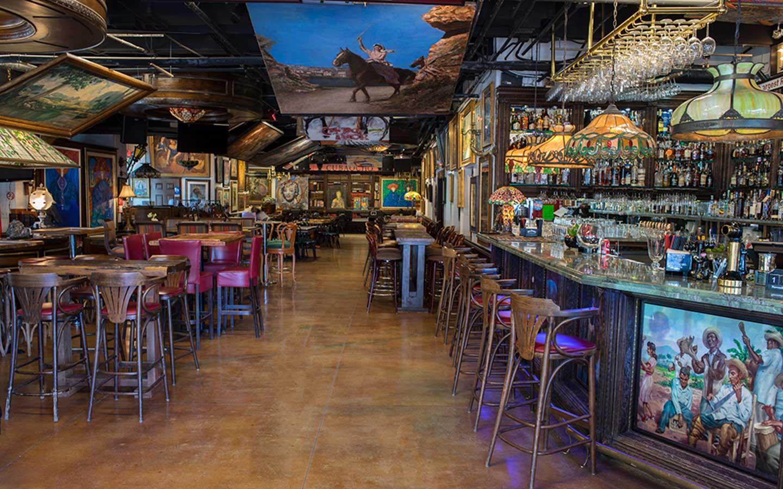 A view of Cubaocho's bar.