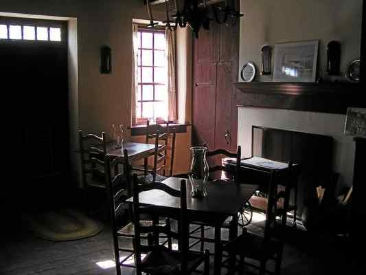 The period interior of the White Horse.