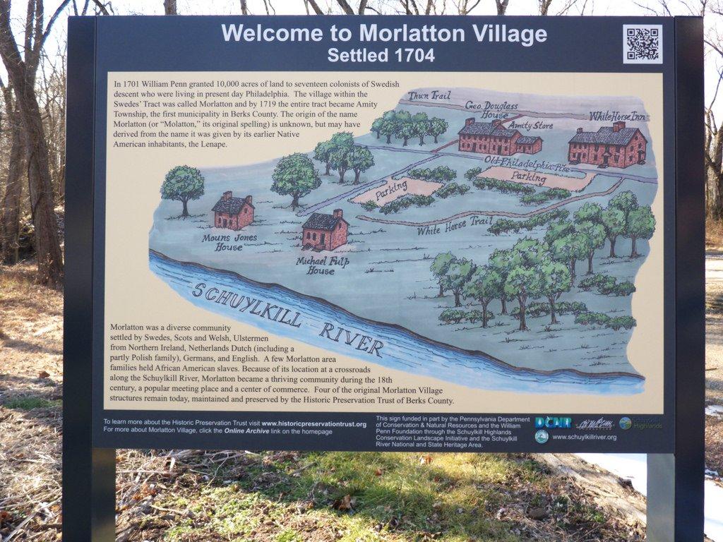 An on-site map of Morlatton Village.