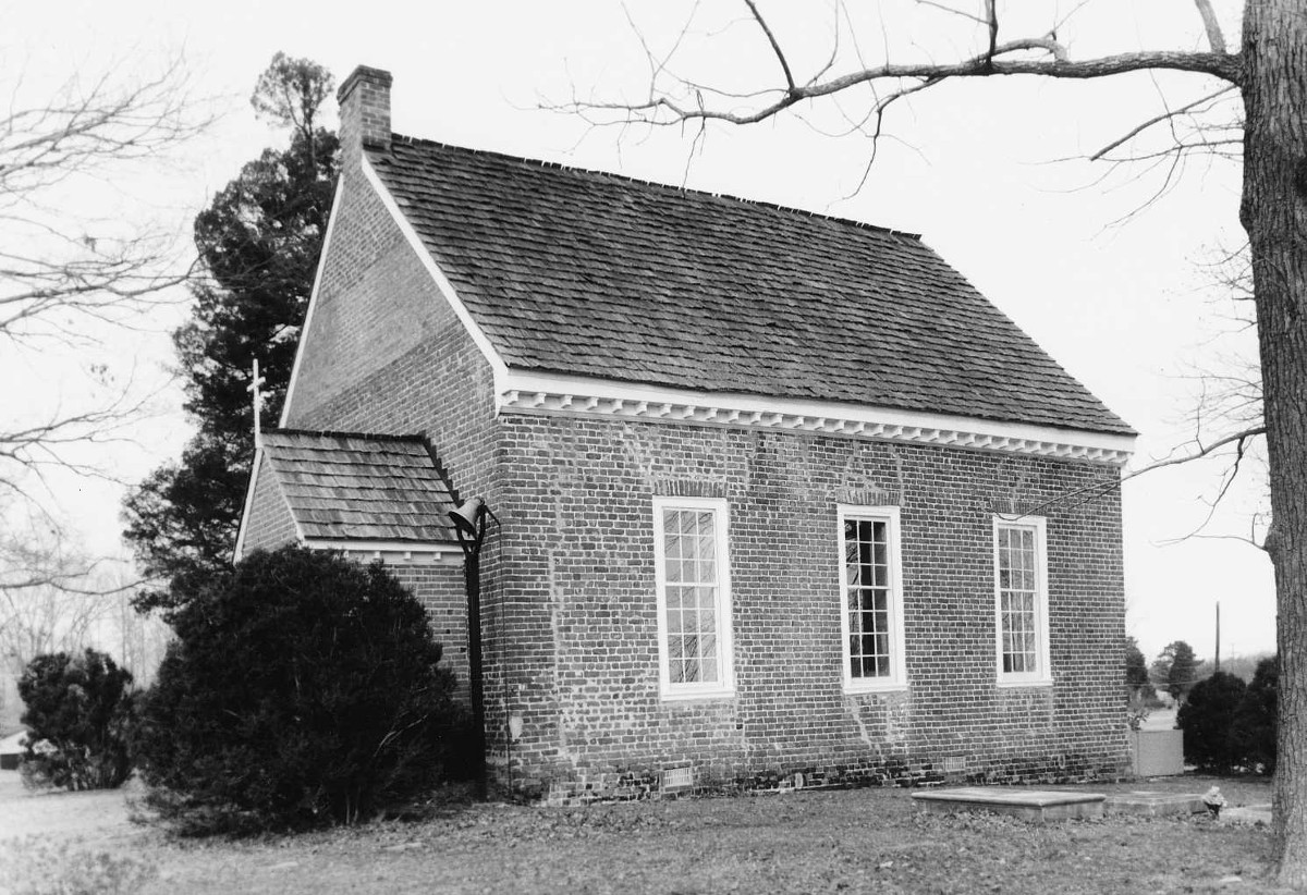 HIckory Neck Church, courtesy of Virginia Department of Historic Resources (reproduced under Fair Use)
