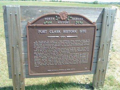 Fort Clark Historic Site Marker