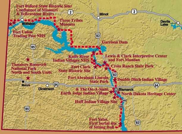 Fort Clark Regional Site Map