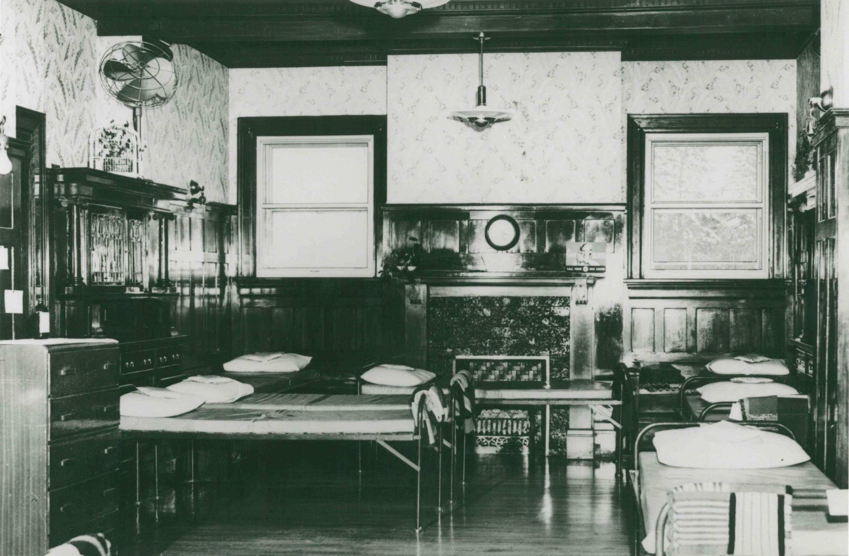 Image 5, Dining Room during the Red Cross Occupation, 1950's