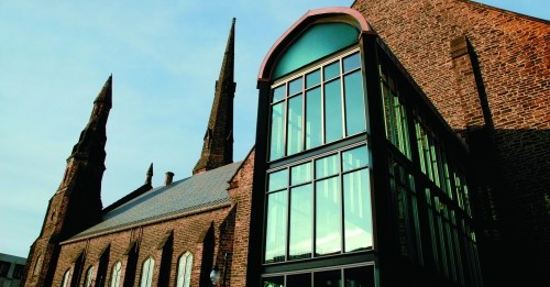 Built in 1871 as the Delaware Avenue Methodist Episcopal Church, Babeville is an arts venue founded by musician Ani DiFranco, who is a native of Buffalo.