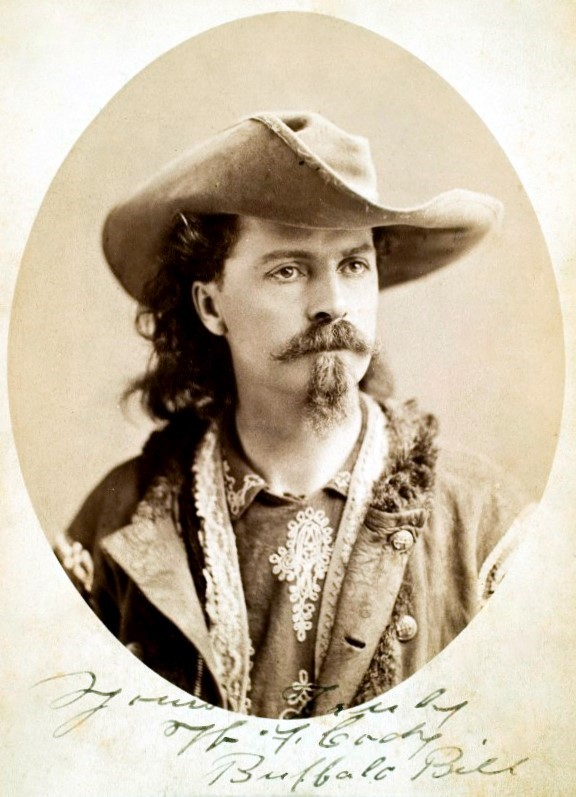 """Buffalo Bill"" Cody began working for the Pony Express at the age of 14. He is perhaps one of the most colorful characters to come from the era of westward expansion and even headlined his own 'Wild West' show in both America and in Europe."