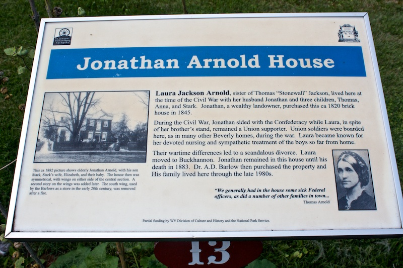 The Jonathan Arnold House is located in historic Beverly, West Virginia.