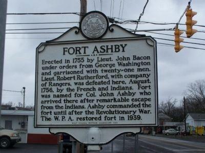 WV Historical Marker at Washington & Green Streets