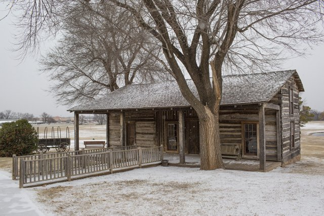 Bourbonnais Cabin on the grounds (image from CPNCHC)