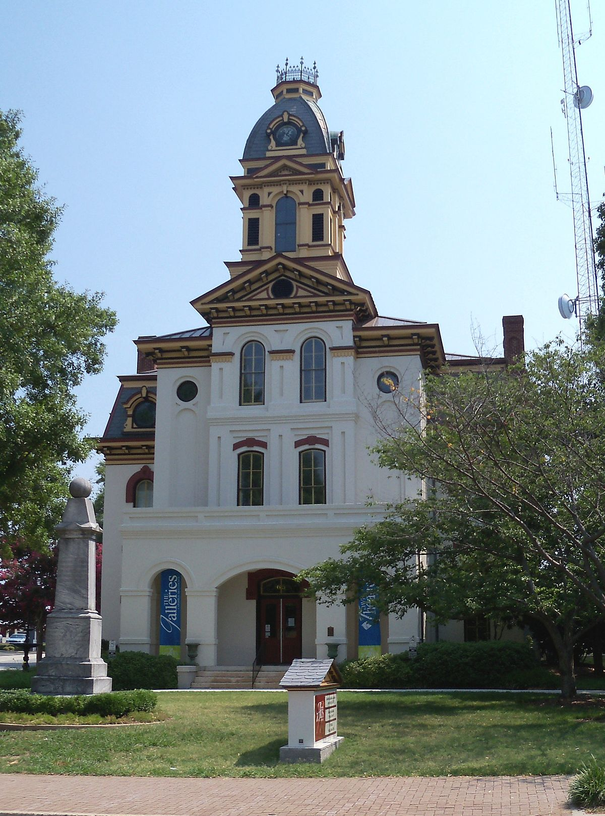 Cabarrus County Courthouse was errected in 1876.