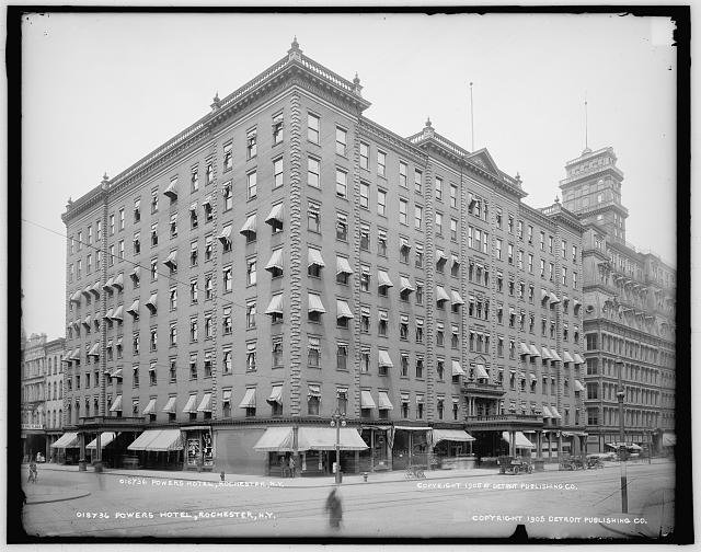 Stone, Albert R. Powers Hotel. 1914. Albert R. Stone Negative Collection, Rochester Museum and Science Center, Rochester , N.Y.