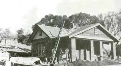 Canelo Guard Station under construction in 1933