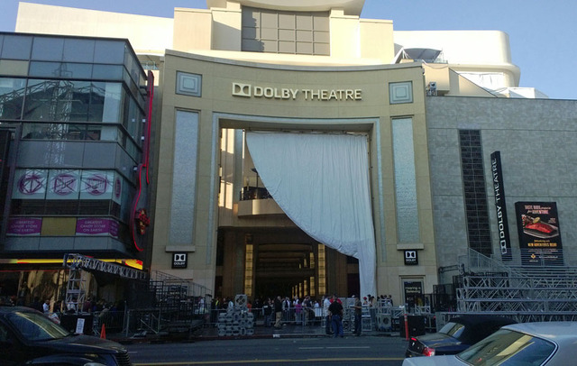 The outside of the Dolby Theatre.