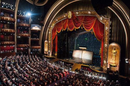The inside of the Dolby Theatre.