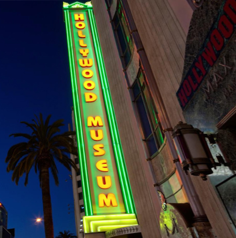 Hollywood Museum sign.
