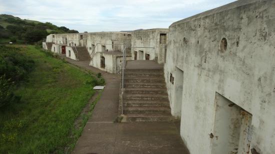 Coastal fortifications along Fort Baker