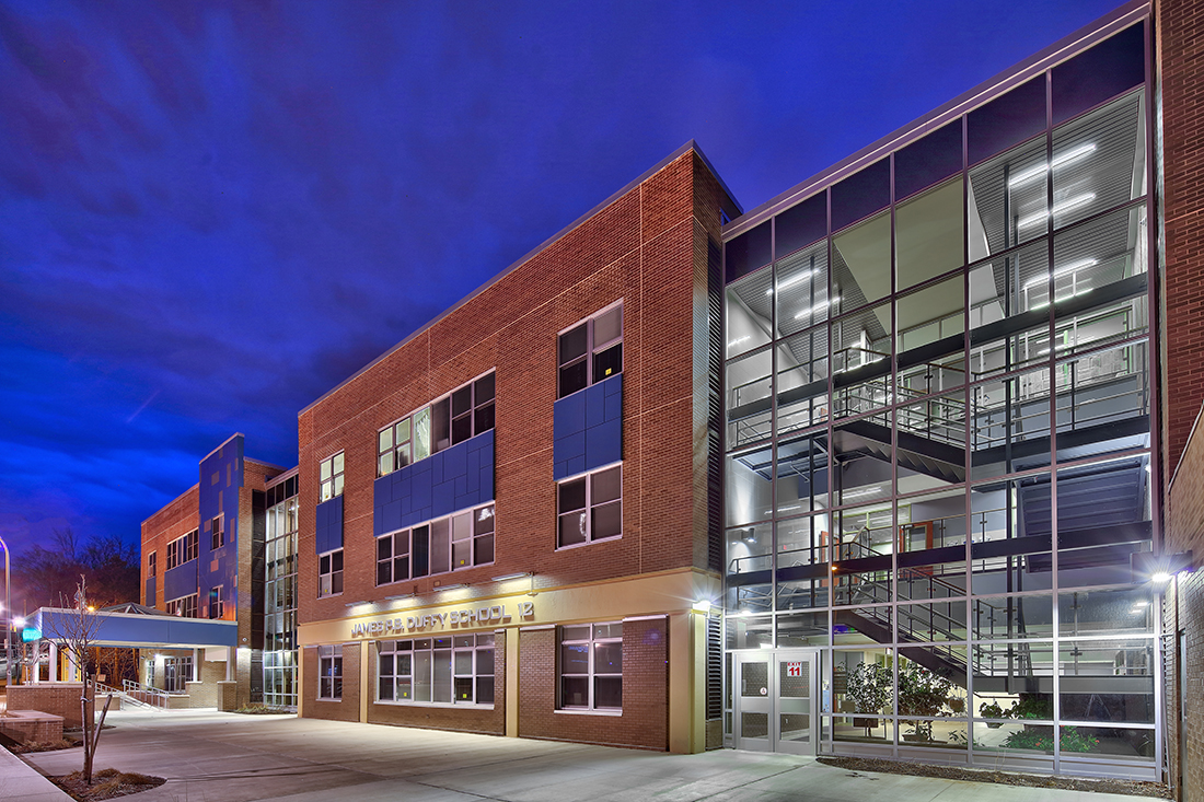 The School has been a focus of several improvement projects over the years. There is also an active movement to have the school renamed to the Frederick Douglass School. http://www.seidesigngroup.com/static/sitefiles/news/Duffy_at_night_Gene.jpg