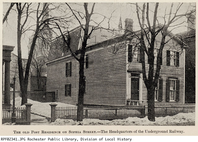 This image depicts the exterior of the Post house in its original location on 36 Sophia Street. Source: Link #2