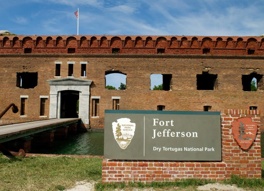 A frontal view of Fort Jefferson.