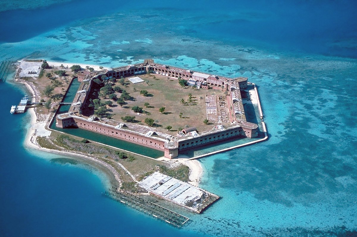 An aerial view of the fort.